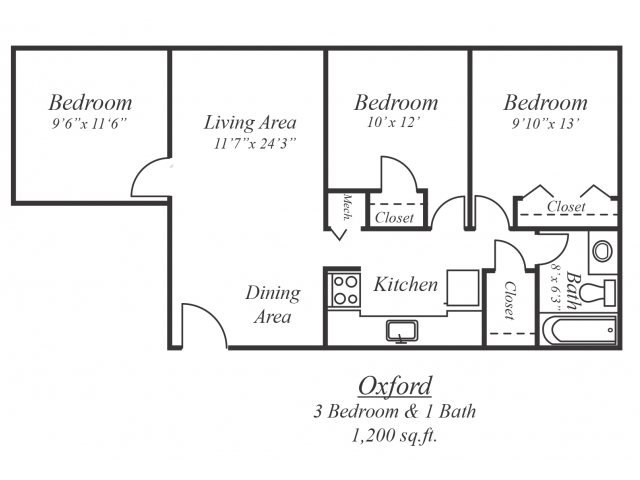 The Oxford Floor Plan 4
