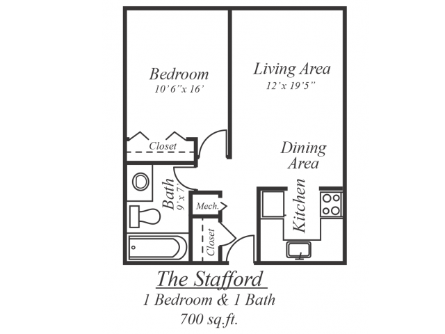 The Stafford Floor Plan 1