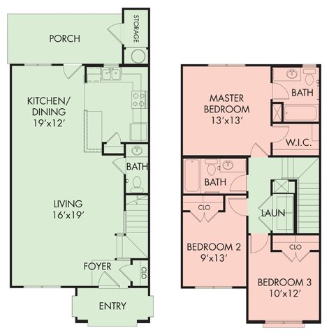 3 bed-2.5 bath TH Floor Plan 6