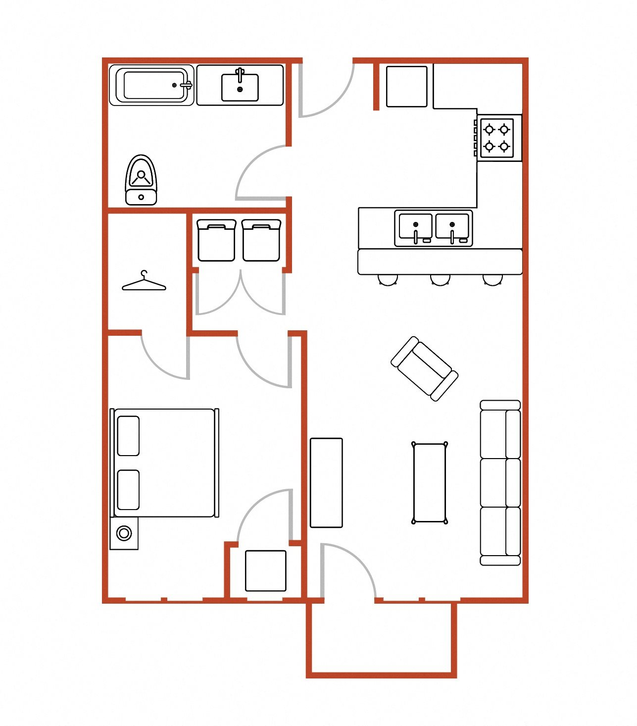 Income Restricted Apartments Milwaukee: Floor Plans Of National Avenue Lofts In Milwaukee, WI
