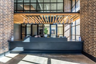 foyer of apartment building clubhouse near Deep Ellum