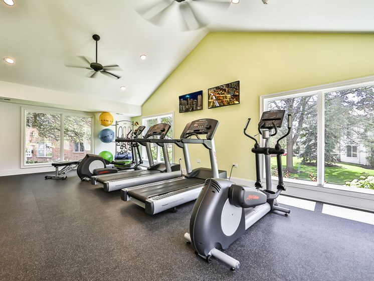 Updated fitness center cardio machines
