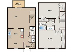 2 Bedroom | 1.5 Bathroom Townhome