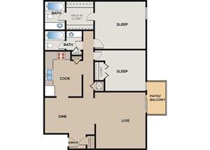 2 Bedroom | 2 Bathroom