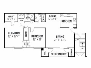 Two Bedroom Deluxe Apartment
