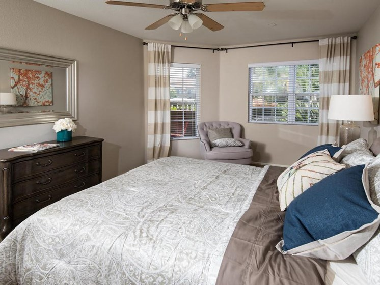 Light filled bedroom at Legends at Rancho Belago 13292 Lasselle Street, 92553