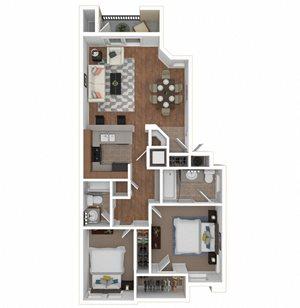 Zoom of The Prima floor plan at Legends at Rancho Belago, Moreno Valley, CA