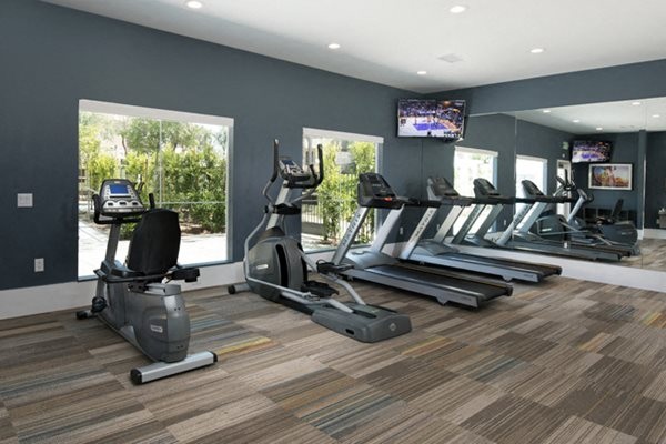 Cardio equipment in gym at Legends at Rancho Belago, CA, 92553