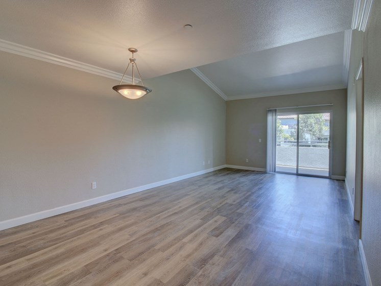 Wood style flooring at Legends at Rancho Belago, CA, 92553