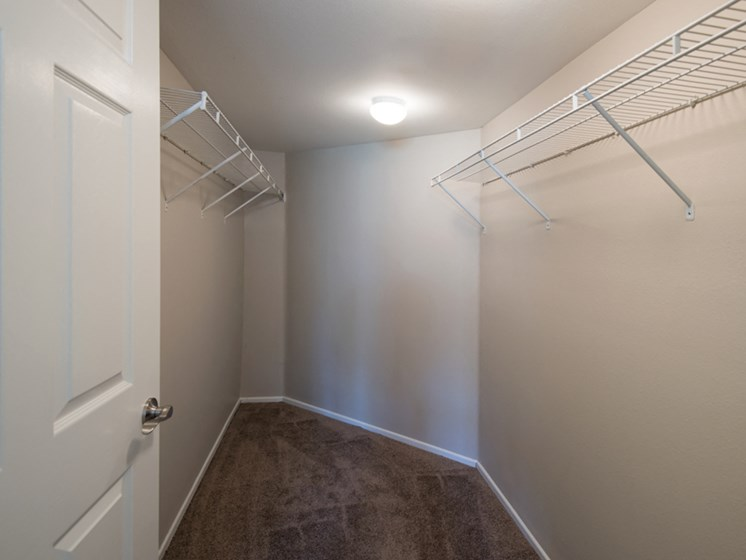 Large walk in closets at Legends at Rancho Belago, California, 92553