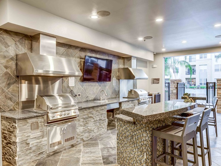 Gourmet Kitchen With Island at Domain at CityCentre, Houston