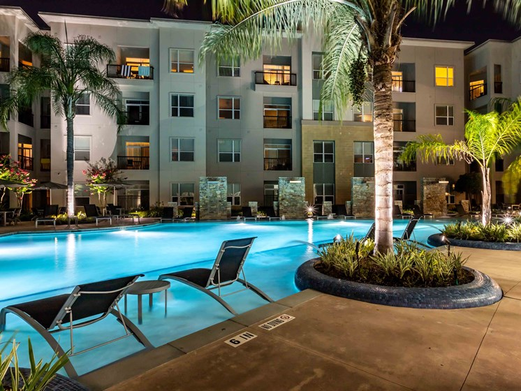 Swimming Pool With Lounge Chairs at Domain at CityCentre, Houston, 77024