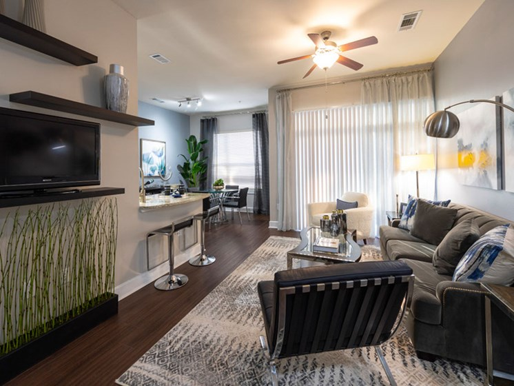 Living Room With Television at Domain at CityCentre, Houston, 77024