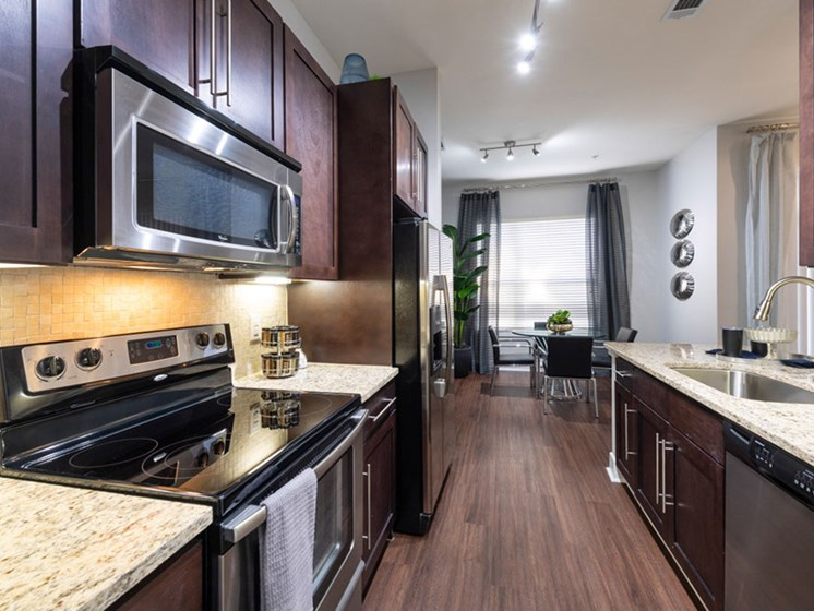 Fully Equipped Kitchen at Domain at CityCentre, Houston, TX, 77024
