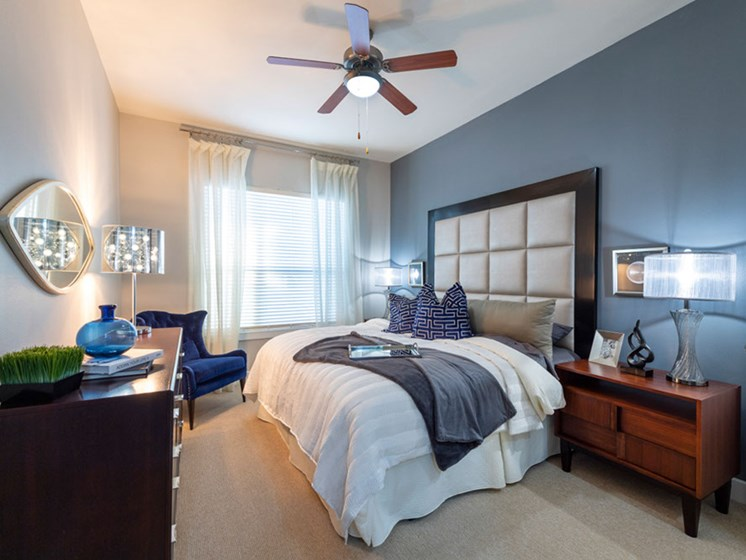 Beautiful Bright Bedroom With Wide Windows at Domain at CityCentre, Houston, TX