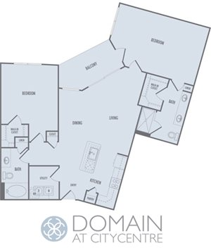 C5 Floor Plan at Domain at CityCentre Apartments in Houston, Texas 77024