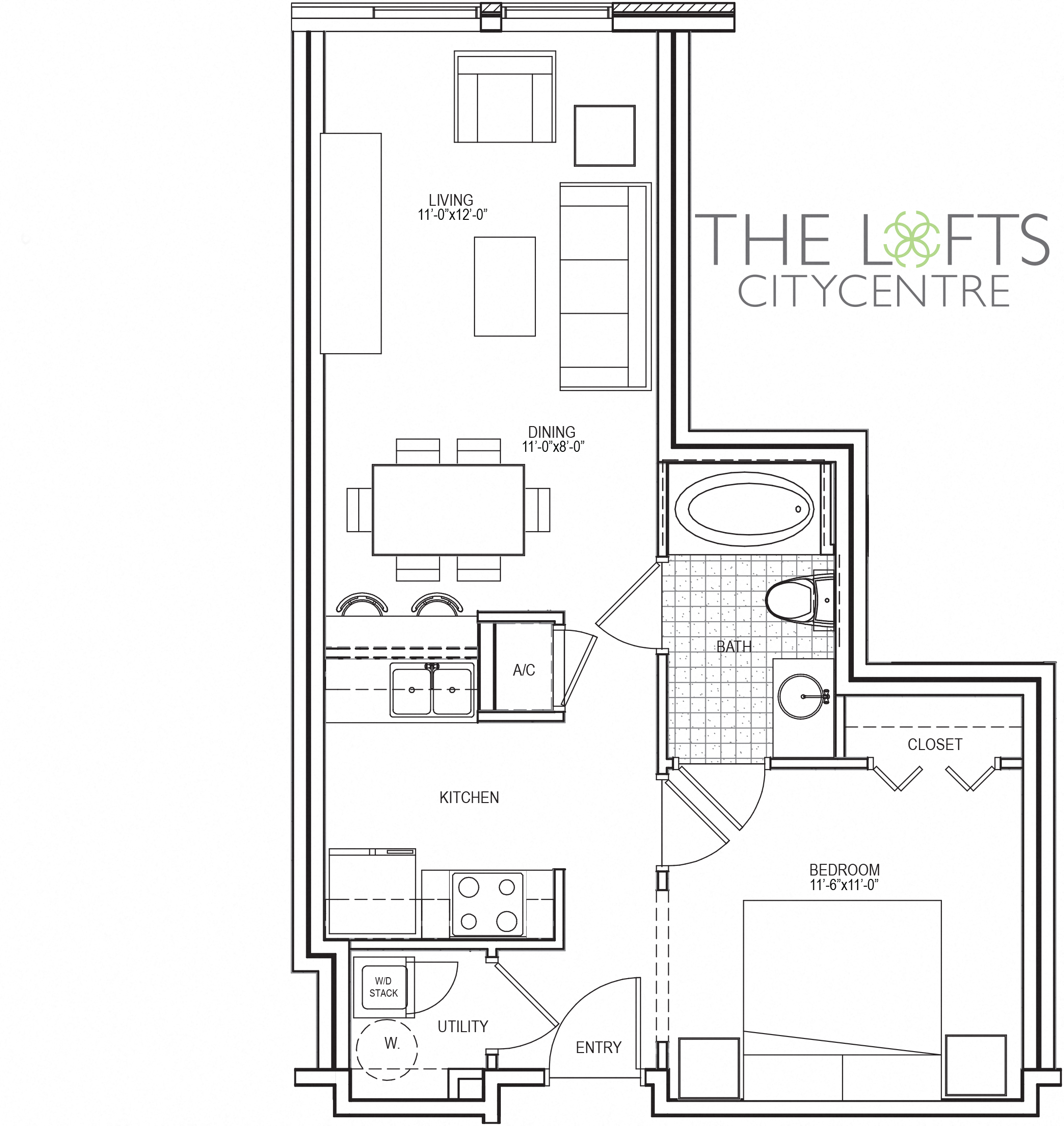 1, 2 & 3-Bedroom Apartments in Houston | Domain at CityCentre National Home Sq Foot Floor Plan on