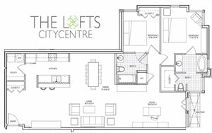 Unit C4 Floor Plan at The Lofts at CityCentre Apartments in Houston, TX 77024
