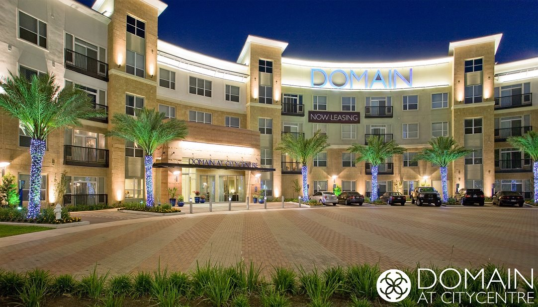 Exterior at Domain at CityCentre Apartments in Houston, Texas 77024