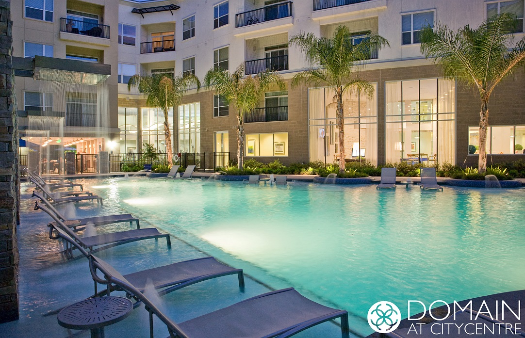 Large Pool at Domain at CityCentre Apartments in Houston, Texas 77024