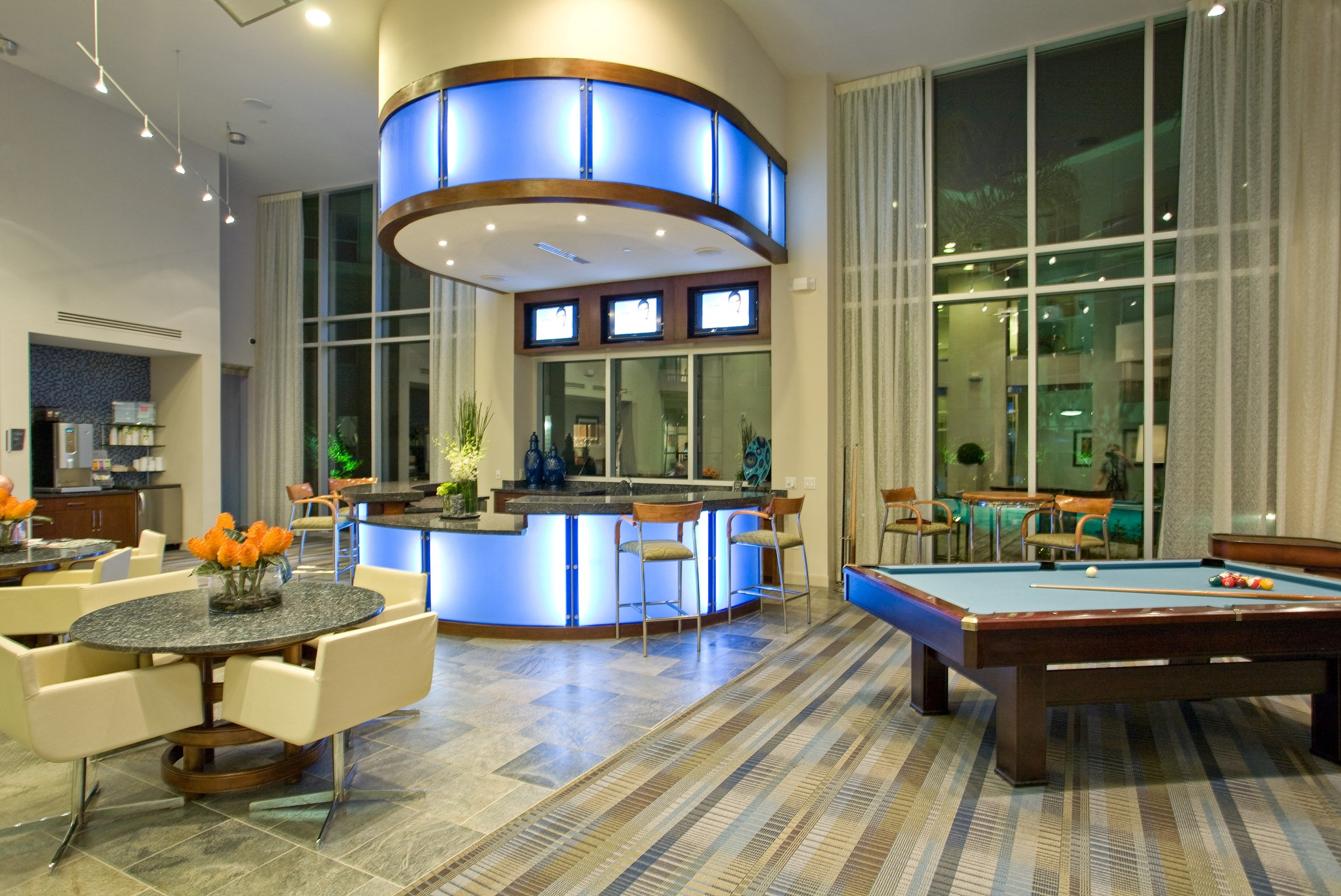 Pool Table at Domain at CityCentre Apartments in Houston, Texas