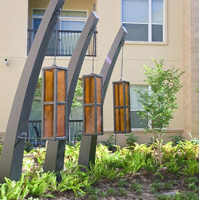 Walking Path With Landscaping at CityCentre Properties in Houston, Texas 77024