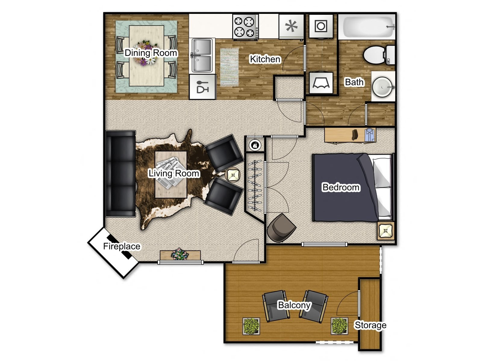 Dogwood Traditional Floor Plan 1