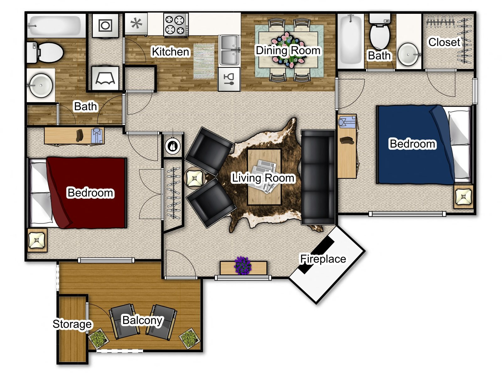 Willow Traditional Floor Plan 2