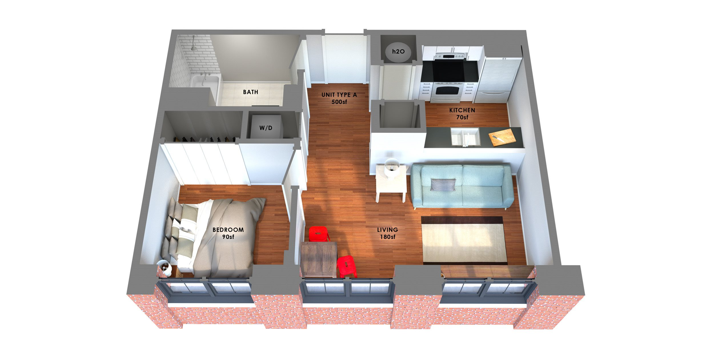95 Lofts Floor Plan A Floor Plan 2