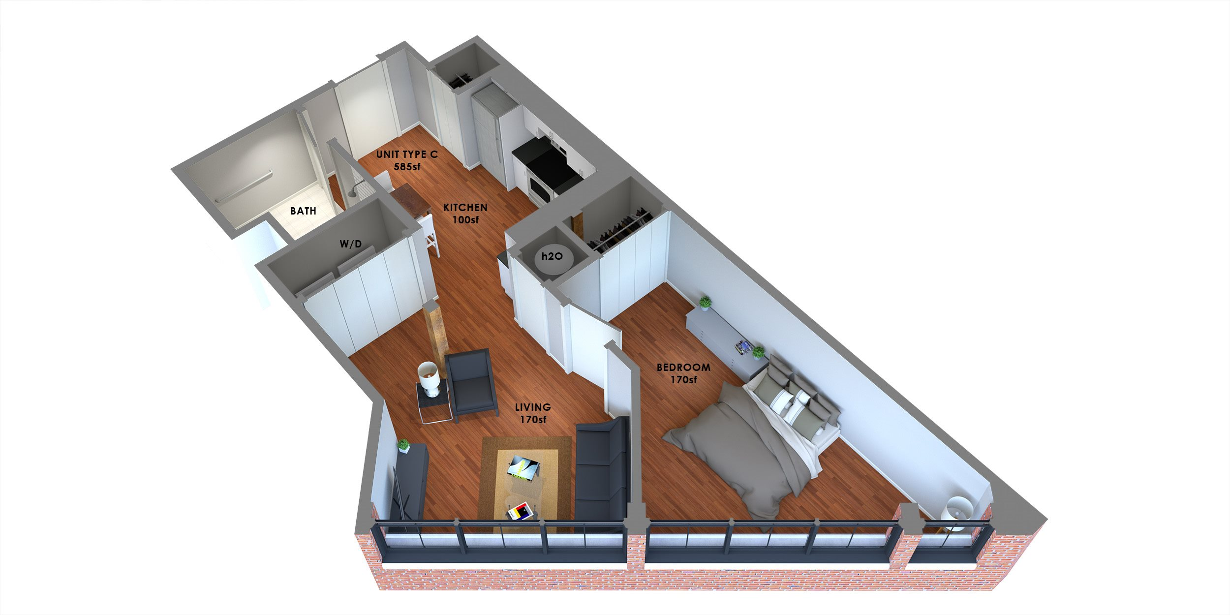 95 Lofts Floor Plan C Floor Plan 3