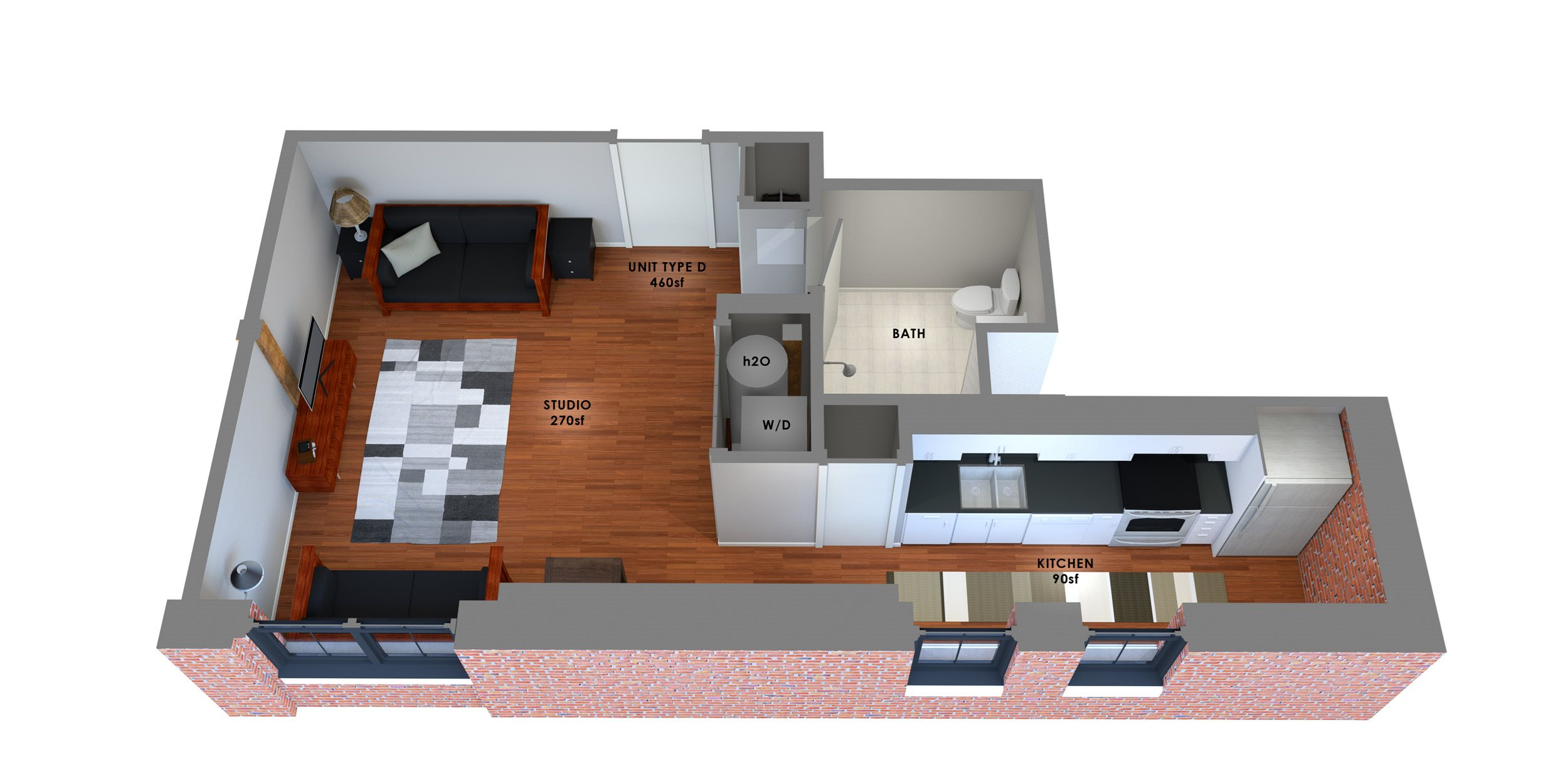 95 Lofts Floor Plan D Floor Plan 4