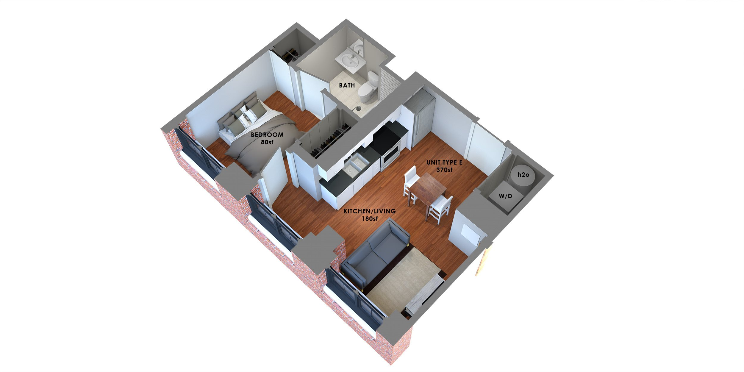 95 Lofts Floor Plan E Floor Plan 5
