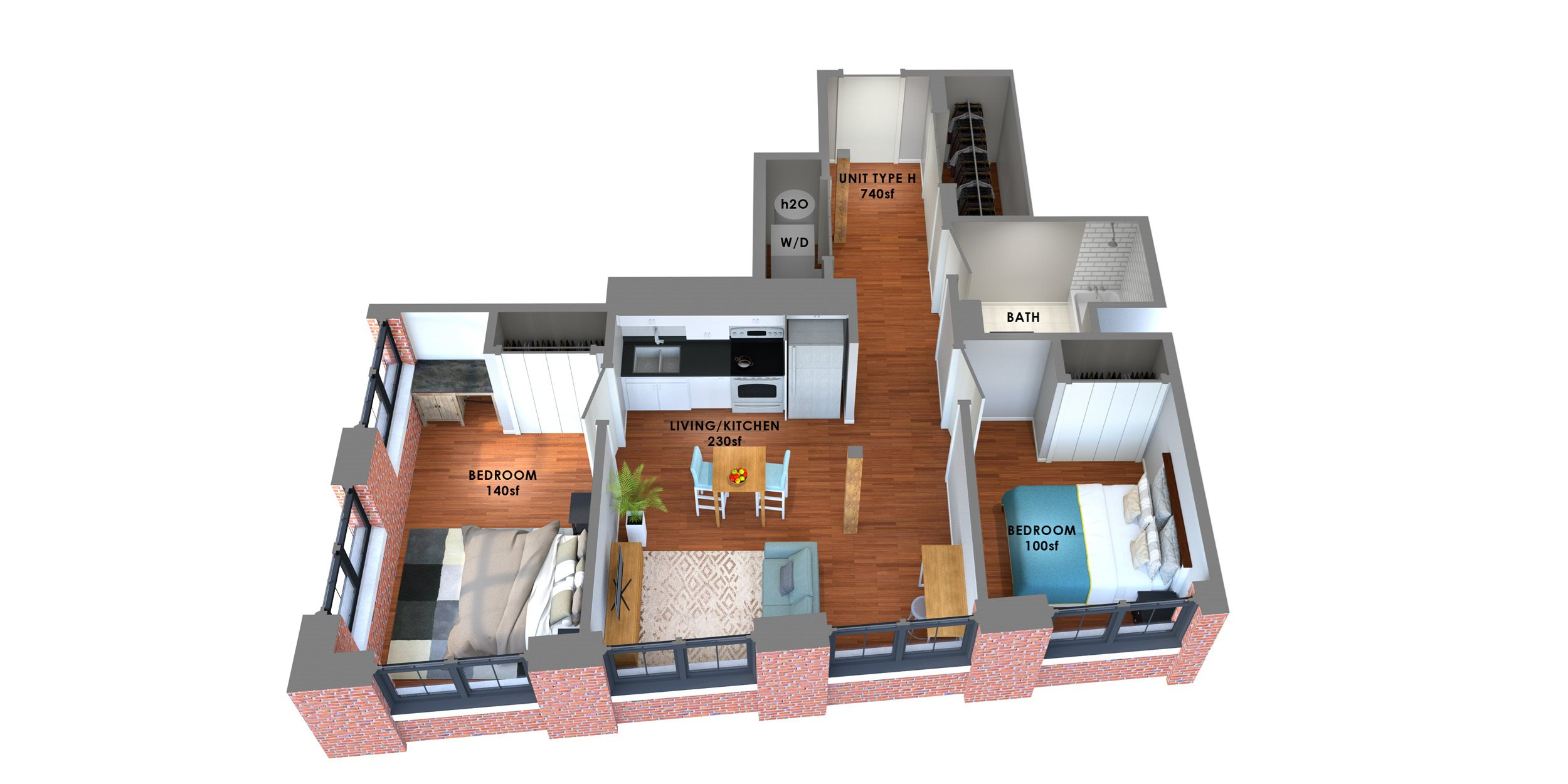 95 Lofts Floor Plan H Floor Plan 7