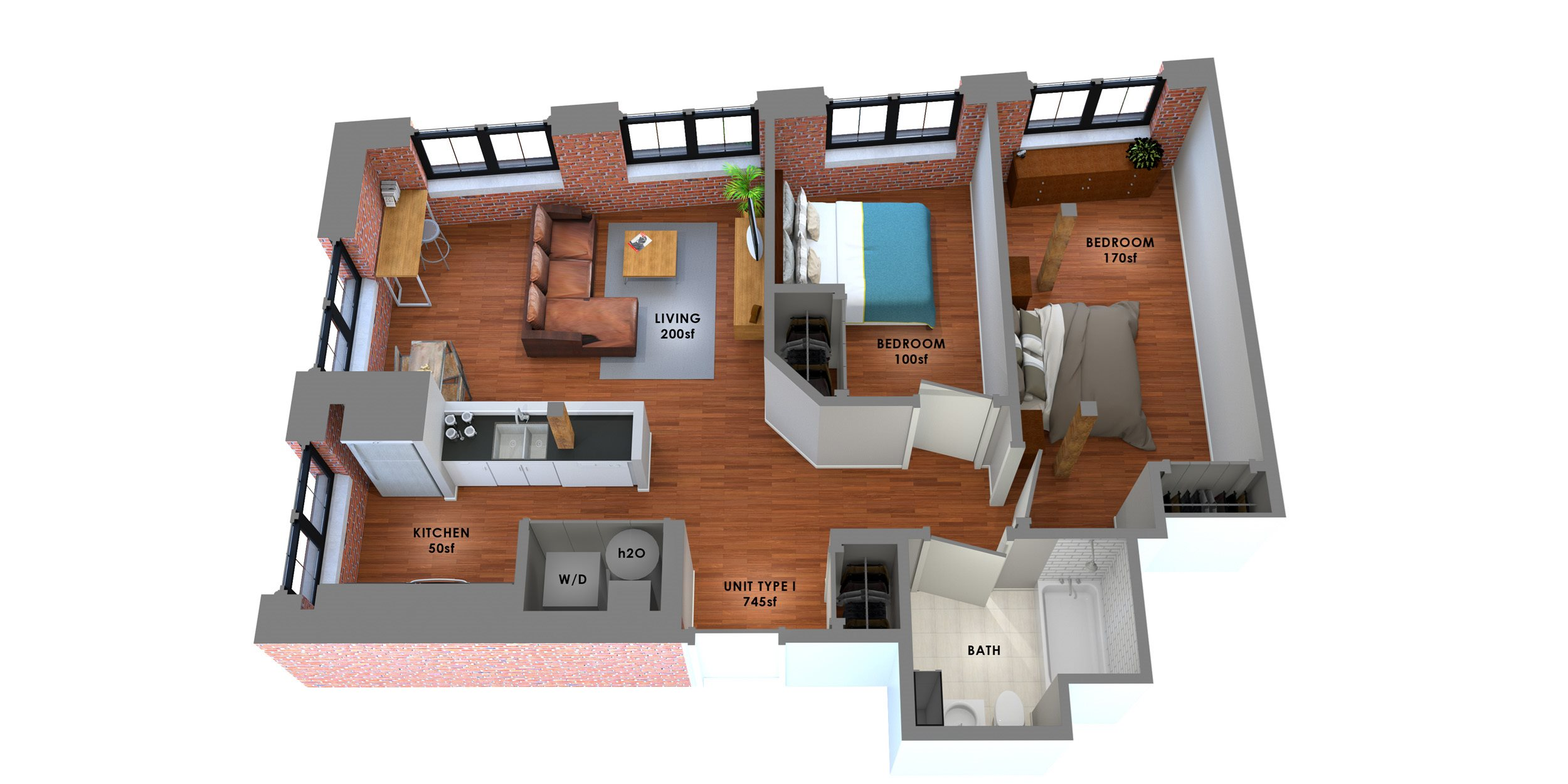 95 Lofts Floor Plan I Floor Plan 8