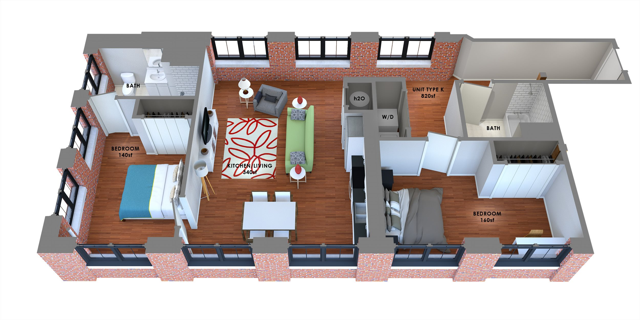 95 Lofts Floor Plan K Floor Plan 10