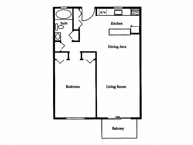 1 Bedroom Corp Floor Plan 2