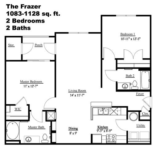 The Fraser Floor Plan 2