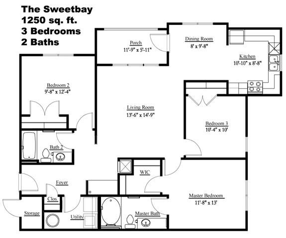 The Sweetbay Floor Plan 4