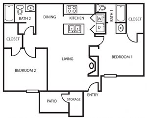2B | Two Bedroom
