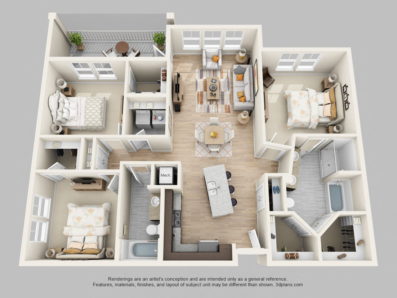 1 2 3 bedroom apartments in orlando fl lake vue - 3 bedroom apartments in orlando fl ...