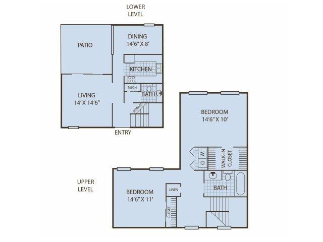 2BR Townhouse Floor Plan 2