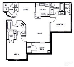 2Bed2Bath Floor Plan 2