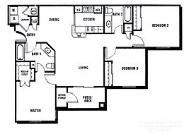 3Bed2Bath Floor Plan 3