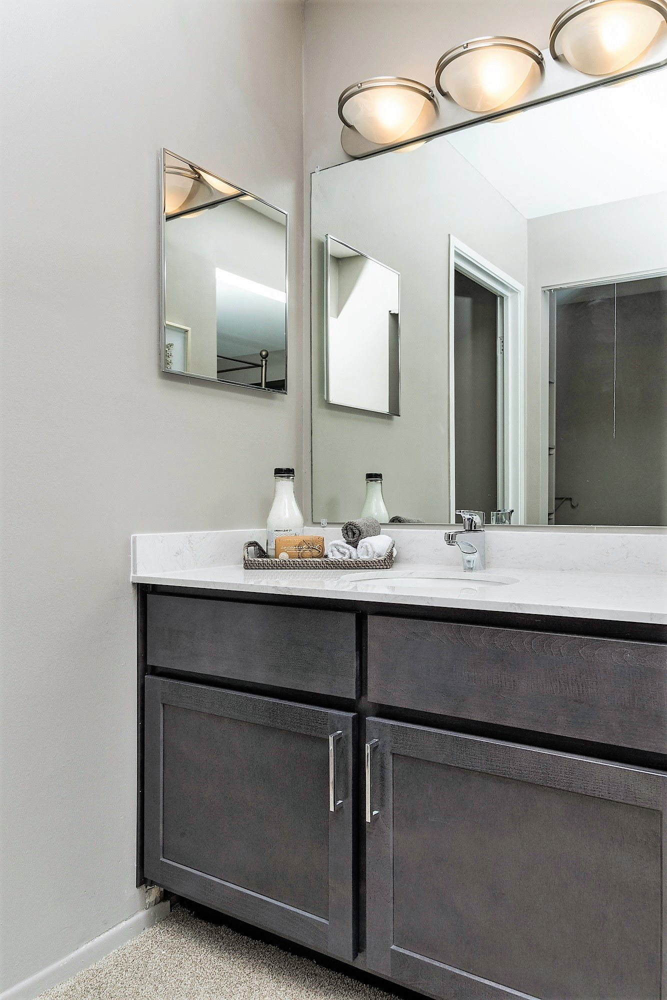 Solid Cultured Marble Bathroom Counter Tops at the Haven of Ann Arbor, Ann Arbor, 48105