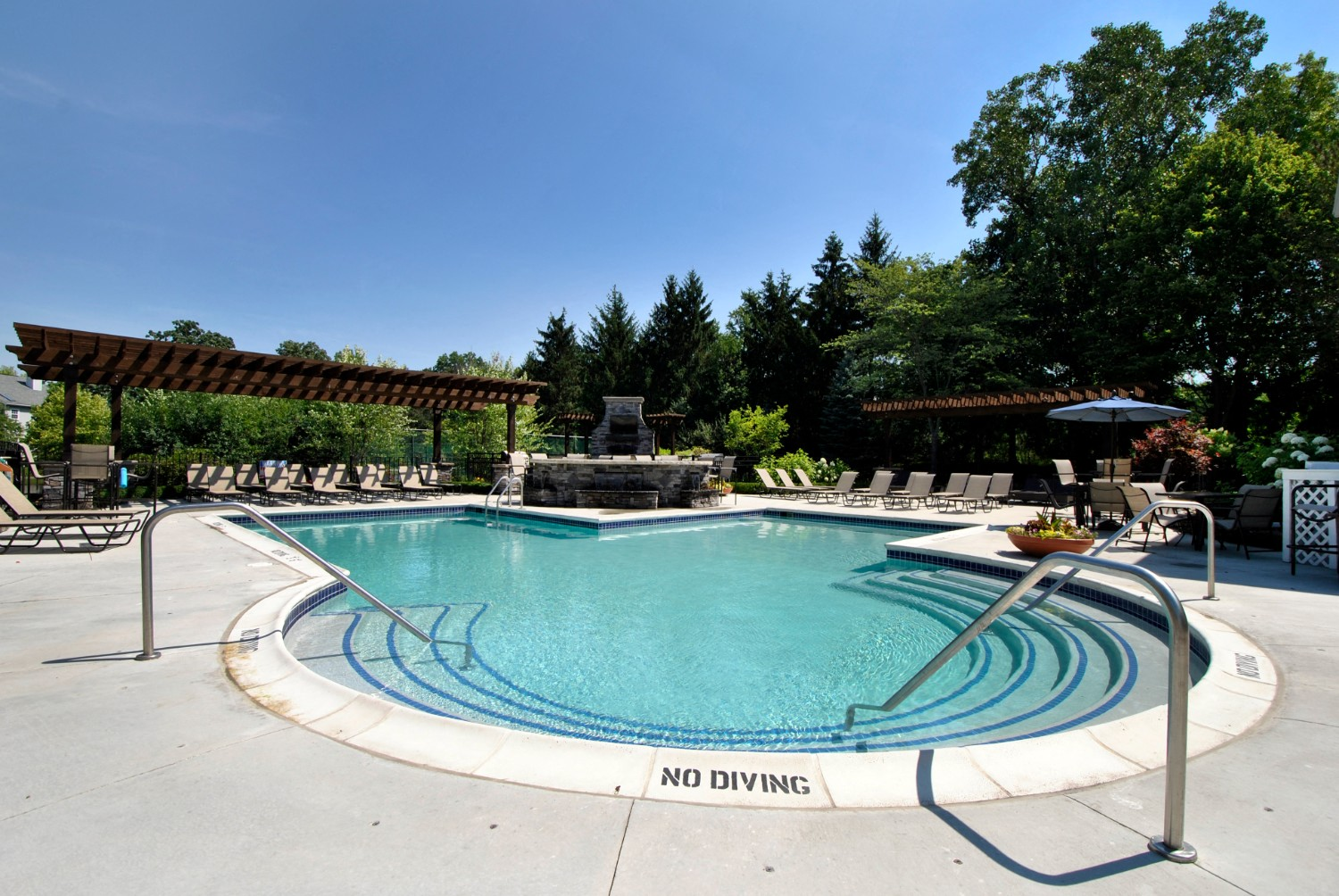 Resort Style Pool at The Haven of Ann Arbor, Ann Arbor, Michigan