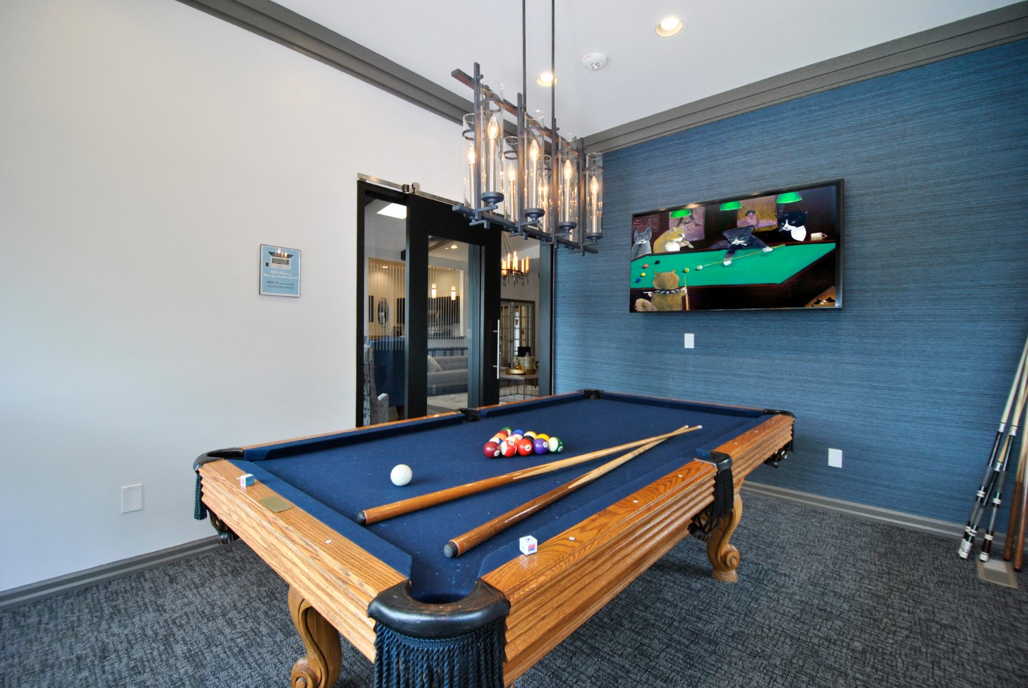 Game Lounge With Billiards At The Haven Of Ann Arbor, Ann Arbor, Michigan