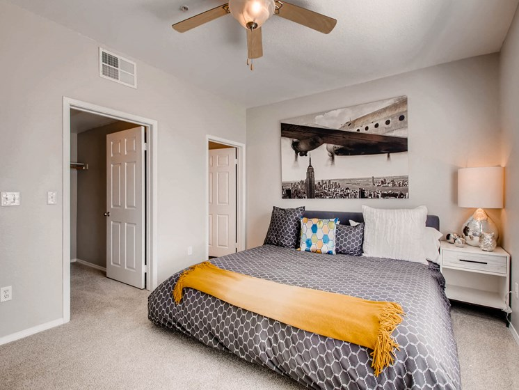 Model home bedroom