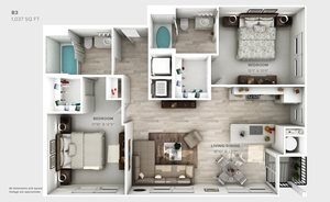 B3-floorplan-2 bedroom