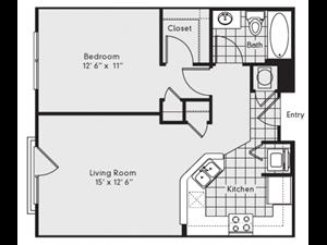 A1 Floor Plan at Reserve at Lavista Walk, 1155 Lavista Walk NE, Atlanta, 30324