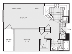 A2 Floor Plan at Reserve at Lavista Walk, Atlanta, GA 30324